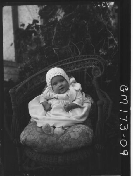 Portrait of baby, 'Bourke'
