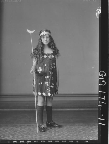 Portrait of girl in fancy dress 'Bosustow'