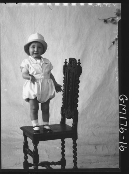 Portrait of child, 'Cunningham'