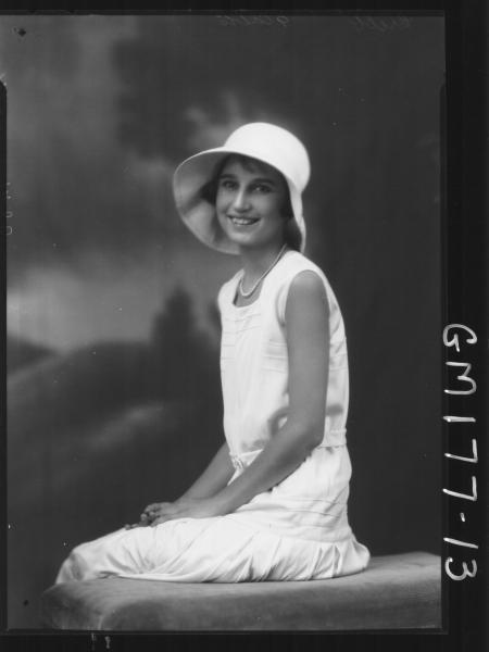 Portrait of woman 'Cribb'