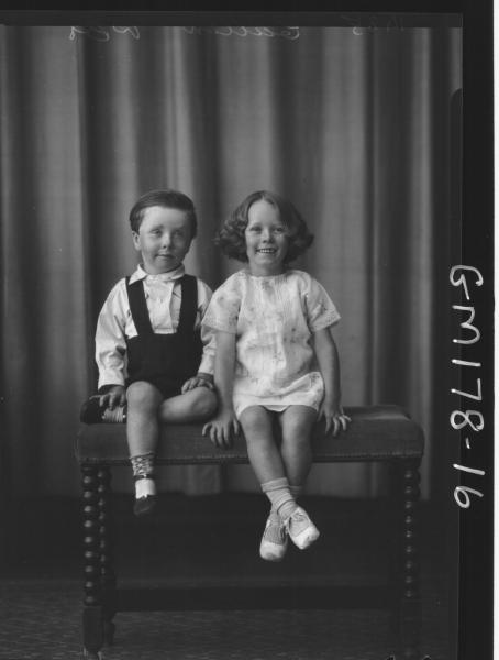 Portrait of two children, 'Cullen'