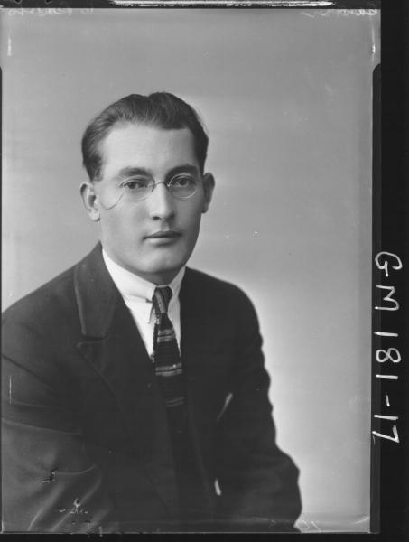 Portrait of man 'Carter'