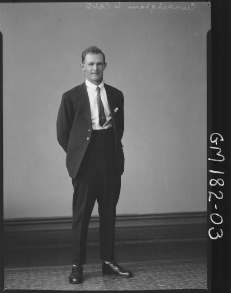 Portrait of man 'Cunningham'