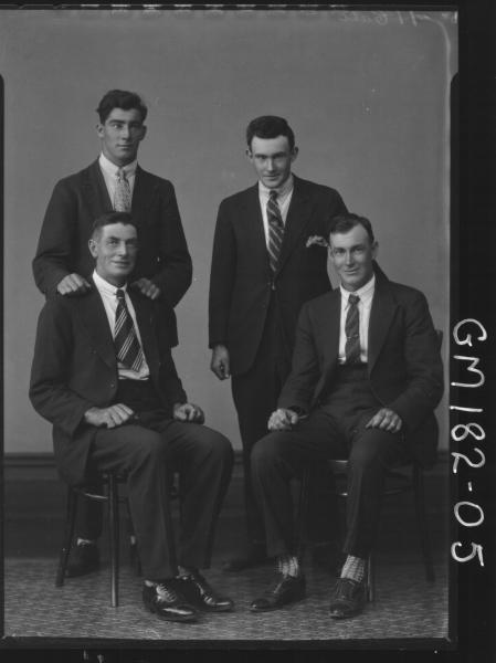 Portrait of four men 'Cunningham'