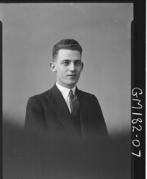 Portrait of man 'Cross'
