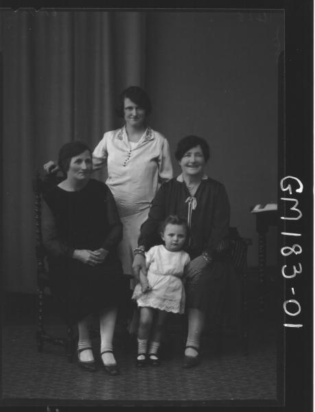 Portrait of three women and child 'McIvor'
