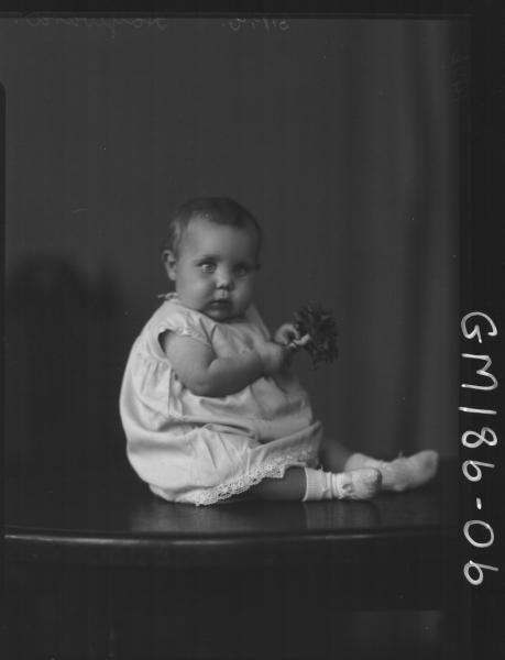 Portrait of baby 'Hayward'