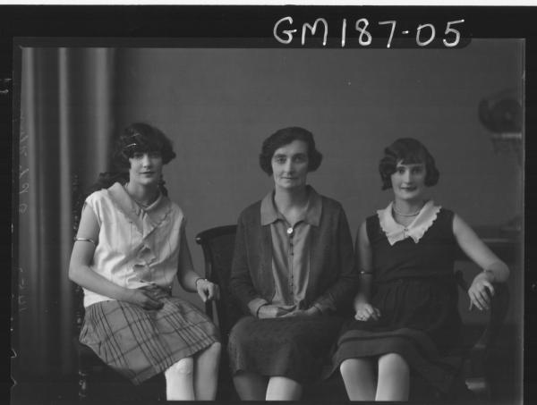 Portrait of three women 'Flynn'