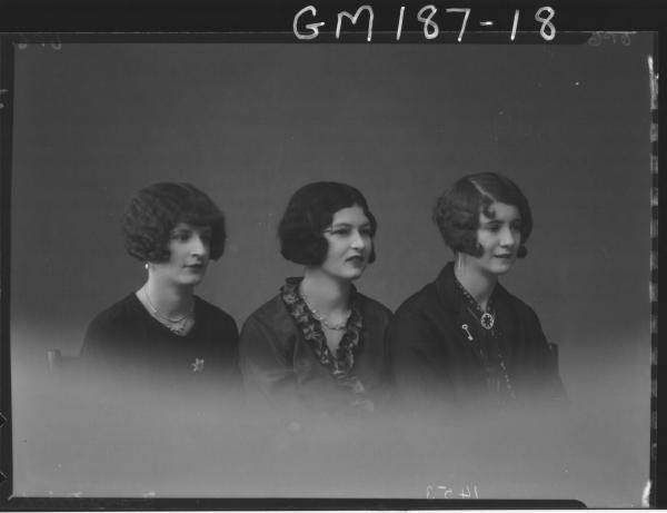 Portrait of three women 'Franetovich'