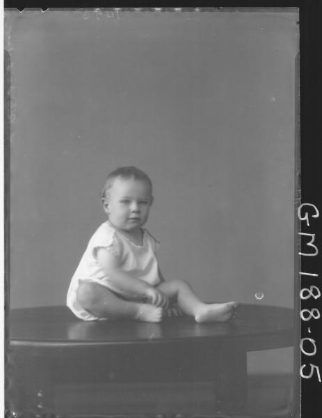 Portrait of baby 'Devonport'