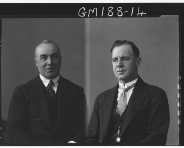 Portrait of two men 'Don' & 'Bennett'