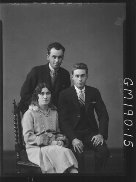 Portrait of two men and woman 'Lester'