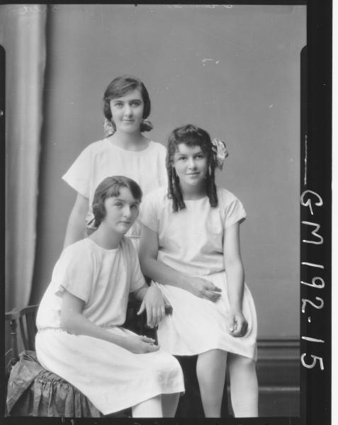 Portrait of three girls 'Shea'
