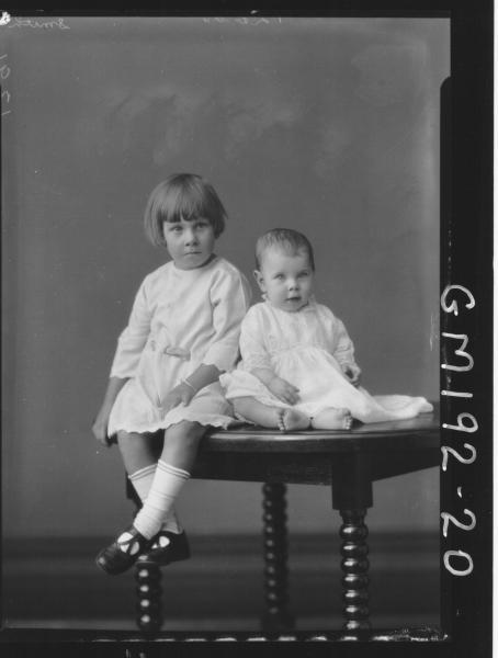 Portrait of two children 'Smith'