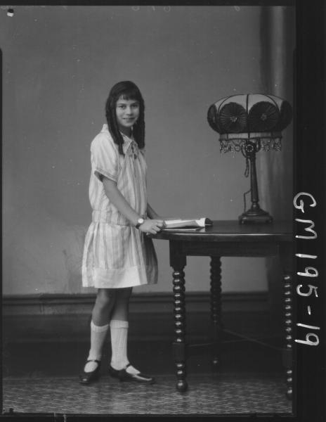 Portrait of girl 'Jennings'
