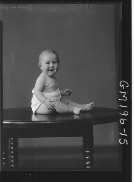 Portrait of baby 'Jennings'