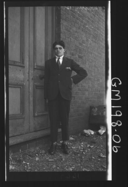 Man outside house 'Mariotti'