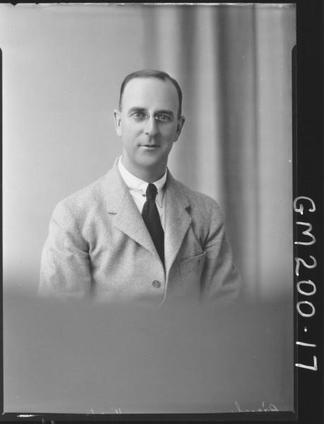 Portrait of man 'Bissel'