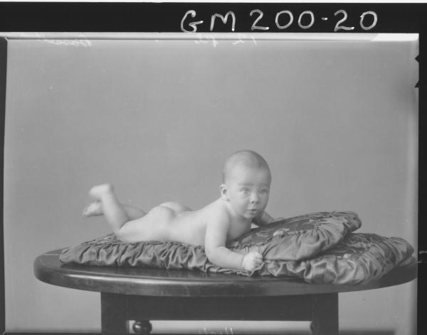 Portrait of baby 'Bassett'