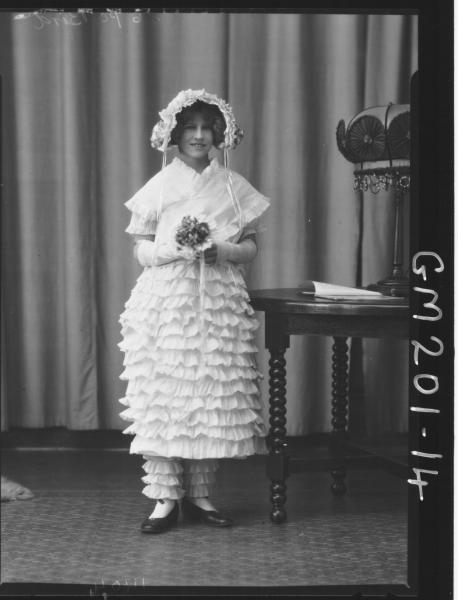 Portrait of girl in fancy dress 'Bird'