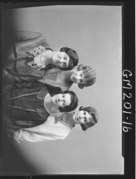 Portrait of four women 'Colgan'