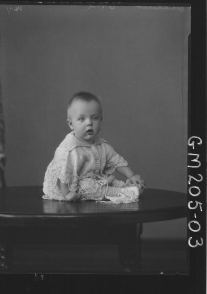 Portrait of baby 'Whitchurch'