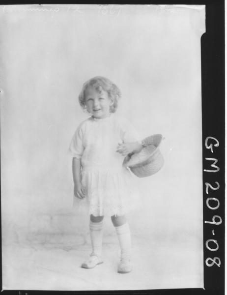 Portrait of child 'Cummings'