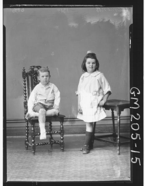 Portrait of two children 'Clements'