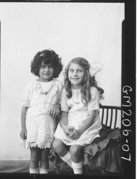Portrait of two girls 'Crosi'