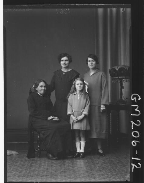 Portrait of three women and girl 'Calder'