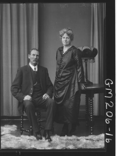Portrait of man and woman 'Cook'
