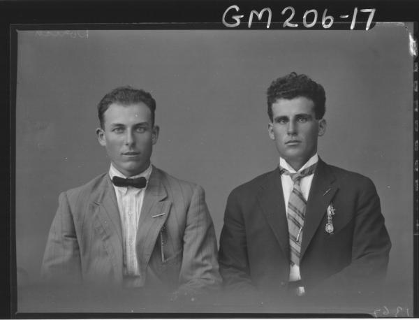 Portrait of two men 'Dorich'