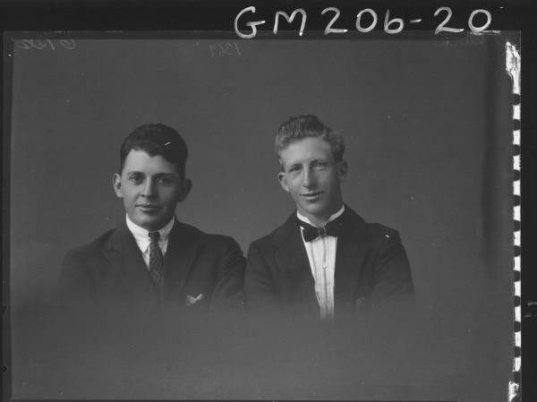 Portrait of two men 'Clark'