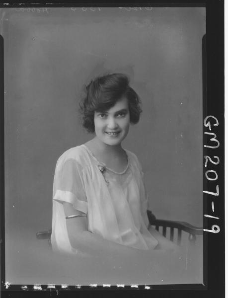 Portrait of woman 'Hobba'