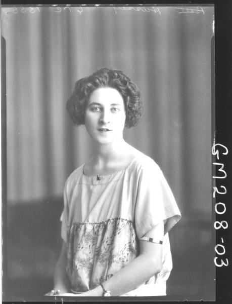 Portrait of woman 'Hussey'