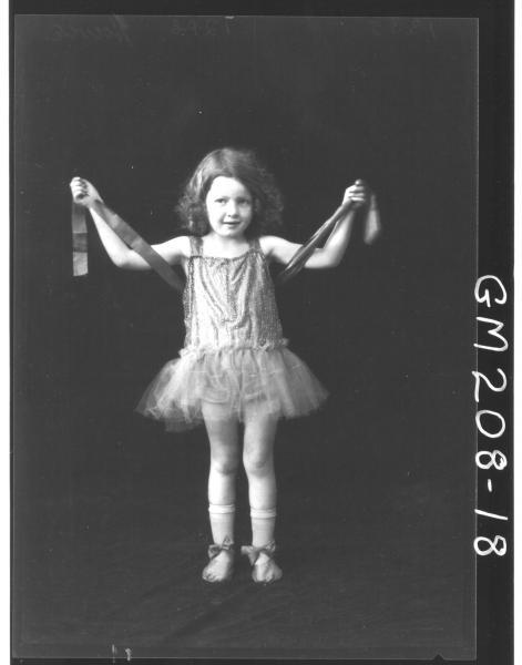 Portrait of girl fancy dress, 'Howie'