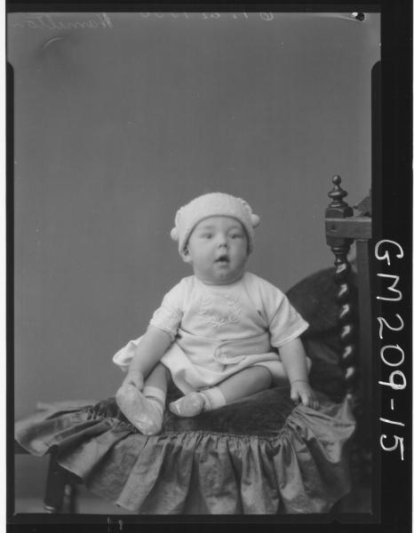 Portrait of baby 'Hamilton'