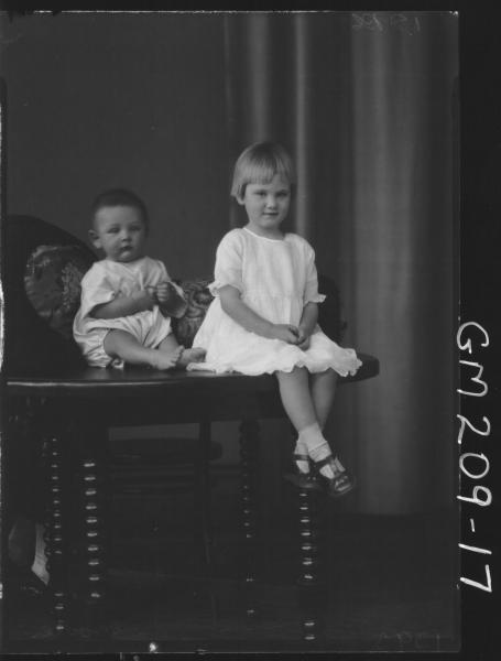 Portrait of two children 'Moore'