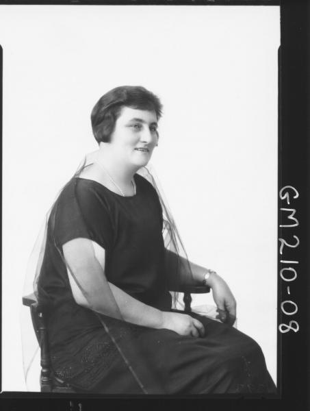 Portrait of woman 'Matherson'