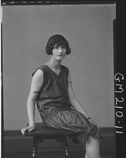 Portrait of woman 'McDade'