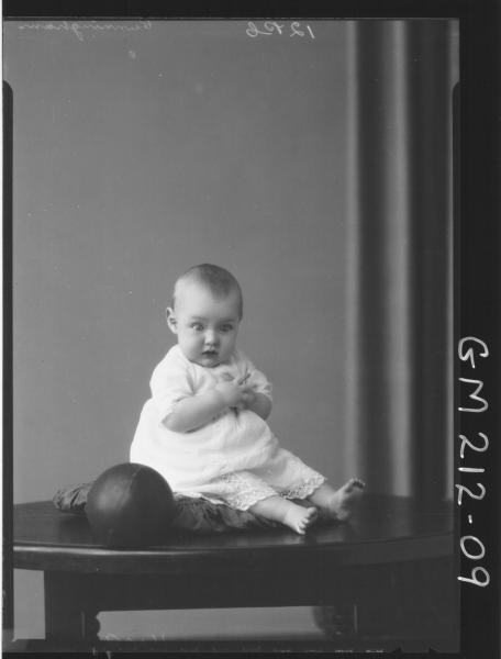 Portrait of baby, 'Cunningham'