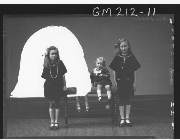 Portrait of three children 'Campbell'