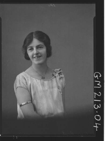 Portrait of woman, Miss 'Coyt'
