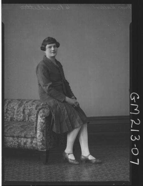 Portrait of woman,'Cullen'