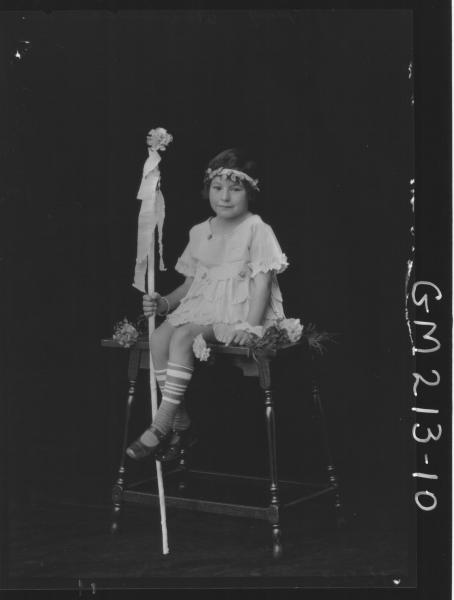 Portrait of child Fancy dress, 'Young'