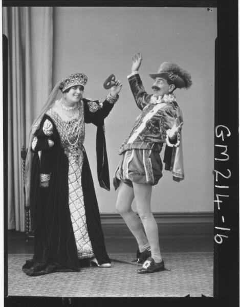 Portrait of actress & actor 'Rintoul' & 'Johnson'