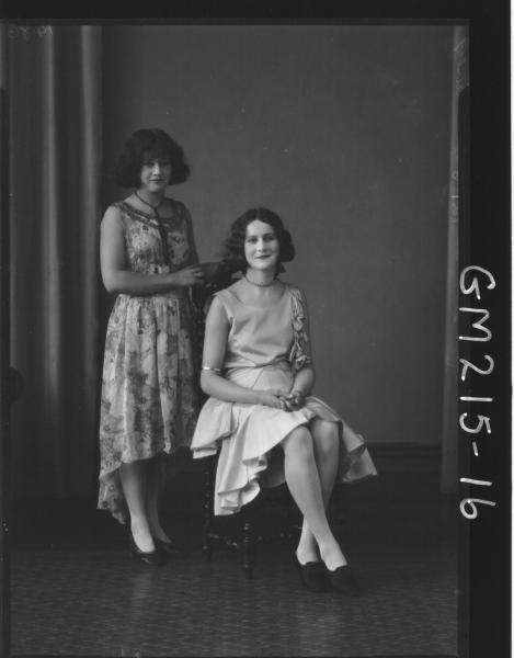 Portrait of two women, 'Davey'