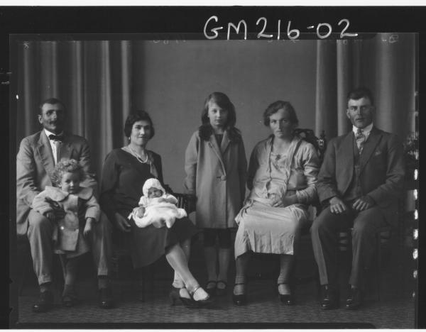 Portrait of family group, 'Della'