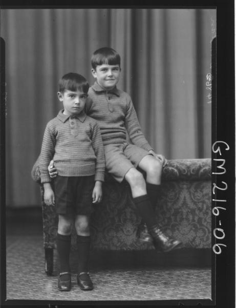 Portrait of two boys 'Dunstan'