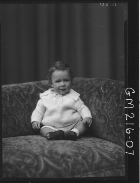 Portrait of baby 'Dunstan'